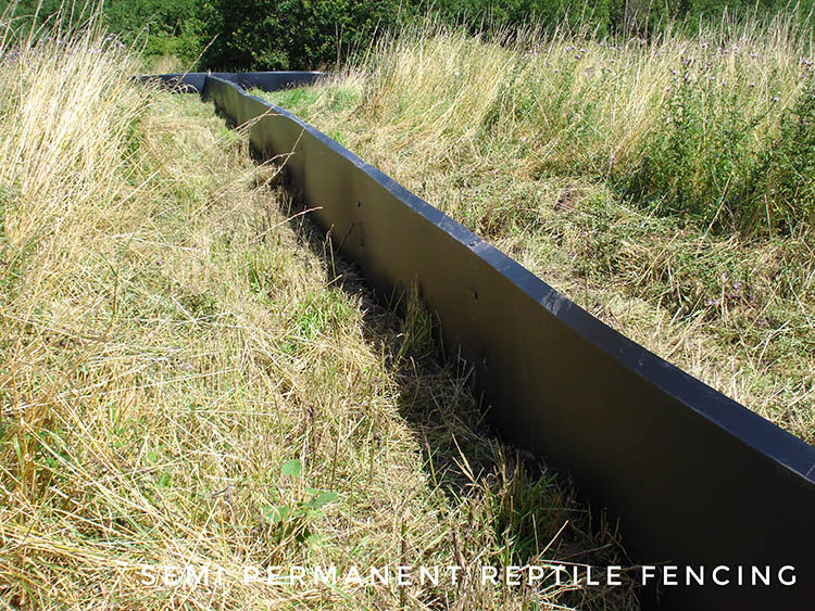 semi permanent reptile fencing